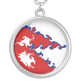 Nepal Gnarly flagga Halsband Med Rund Hängsmycke