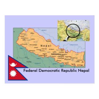 Nepal karta vykort
