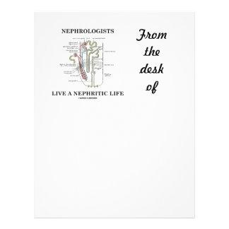 Nephrologists bor ett Nephritic liv (Nephron) Brevhuvud