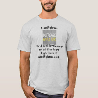 Nerdfighters minskningvärld suger tshirts