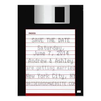 Nerdy bröllop spara datumdiskett 11,4 x 15,9 cm inbjudningskort