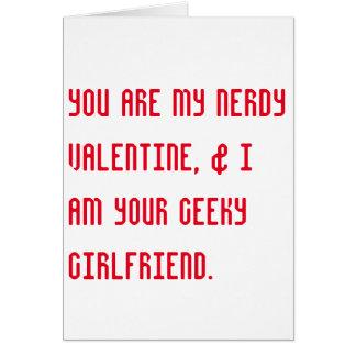 nerdy + geeky valentin kort för dagromantiker