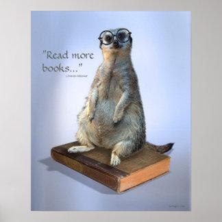 Nerdy hipster Meerkat, citationstecken Poster