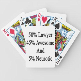 Neurotiker 45 och 5 enorm advokat för 50 spelkort