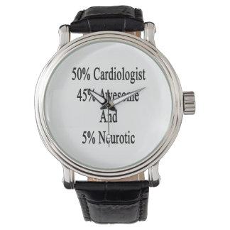 Neurotiker 45 och 5 enorm Cardiologist för 50 Armbandsur