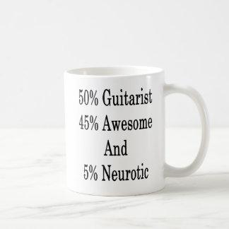 Neurotiker 45 och 5 enorm gitarrist för 50 kaffemugg