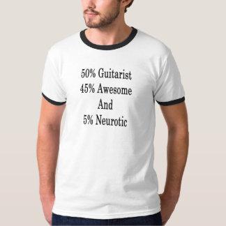 Neurotiker 45 och 5 enorm gitarrist för 50 t shirt