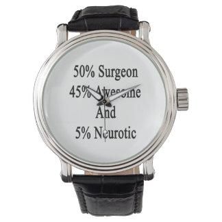 Neurotiker 45 och 5 enorm kirurg för 50 armbandsur