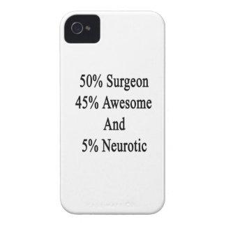 Neurotiker 45 och 5 enorm kirurg för 50 iPhone 4 Case-Mate cases