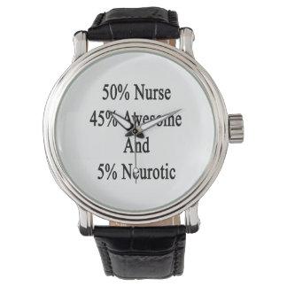 Neurotiker 45 och 5 enorm sjuksköterska för 50 armbandsur