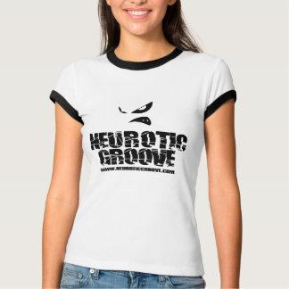 Neurotiker räfflar flickaskjortan t shirts