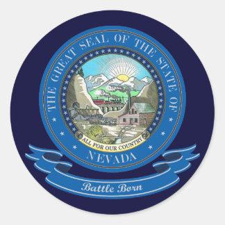 Nevada förseglar runt klistermärke