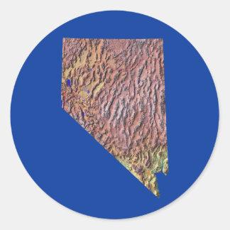 Nevada kartaklistermärke runt klistermärke