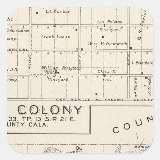 Nevada koloni fyrkantigt klistermärke