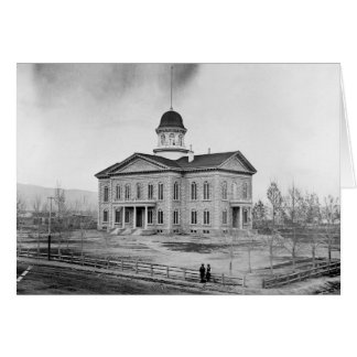 Nevada statligt huvudstadkort hälsningskort