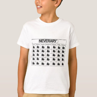 Neverary kalender tee shirt
