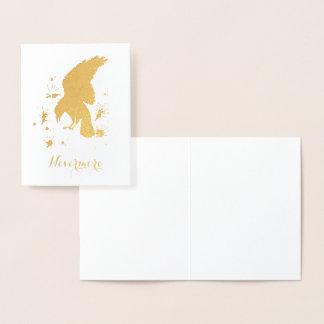 Nevermore korpsvart guld folierat kort