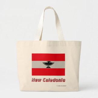New Caledonia flagga med namn Tygkassar