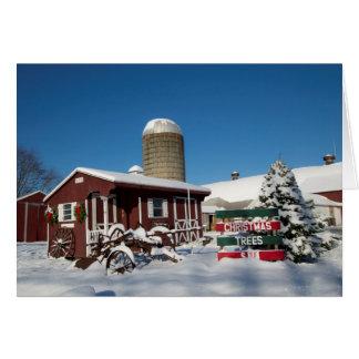 New England julgranar Hälsningskort