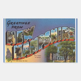 New Hampshire lakan av 4 New Hampshire Rektangulärt Klistermärke