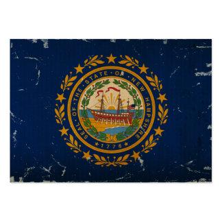 New Hampshire statlig flaggaVINTAGE Set Av Breda Visitkort
