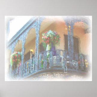 New Orleans balkong Poster