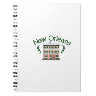 New Orleans byggnad Antecknings Bok