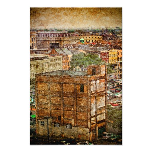 New Orleans Decatur strukturer Fotokonst
