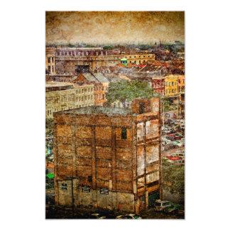 New Orleans Decatur strukturer Fototryck