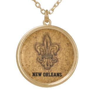 New Orleans Fransk Fleur de Lis Guldpläterat Halsband