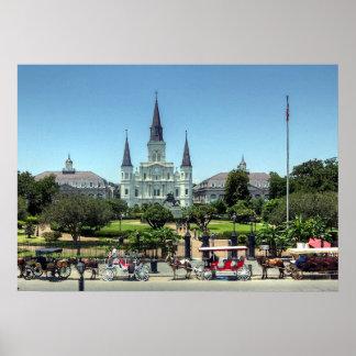New Orleans fransk inkvarterar Jackson kvadrerar t Poster