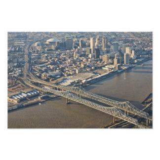 New Orleans i stadens centrum antenn Fototryck