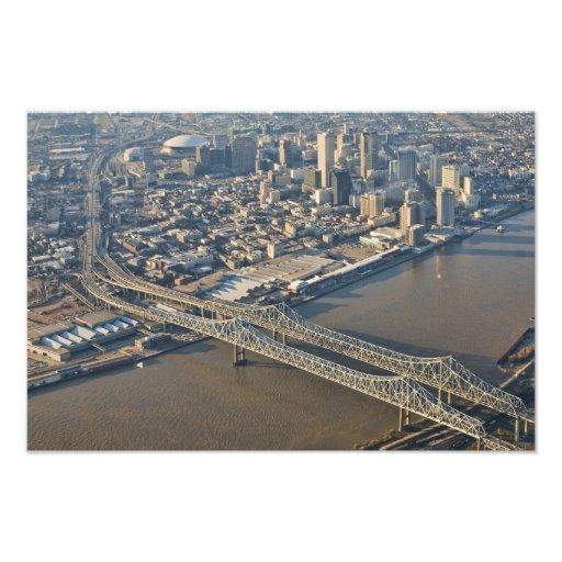 New Orleans i stadens centrum antenn Fotografiska Tryck