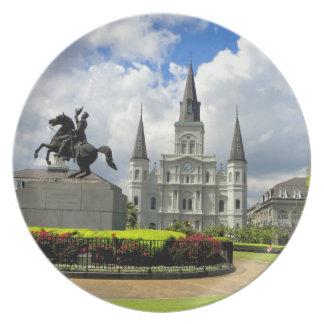 New Orleans Jackson kvadrerar fotografi pläterar Tallrik