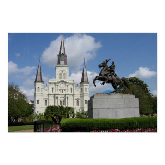 New Orleans Jackson kvadrerar Poster