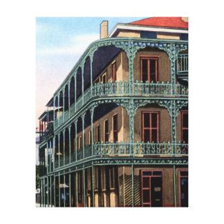 New Orleans Louisiana kunglig gataIronwork Canvastryck