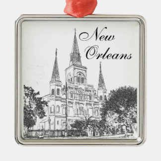 New Orleans St Louis domkyrka Julgransprydnad Metall