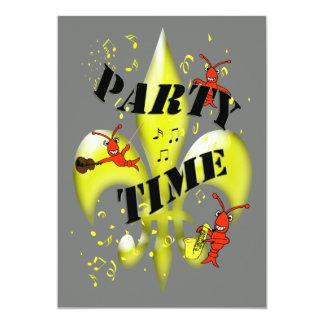 New Orleans themed partyinbjudan 12,7 X 17,8 Cm Inbjudningskort