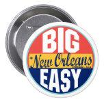 New Orleans vintageetikett Knappar