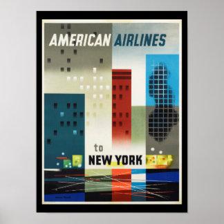 New York art décovintage affisch