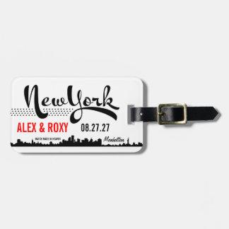 NEW YORK bagagemärkre Lapp För Bagaget