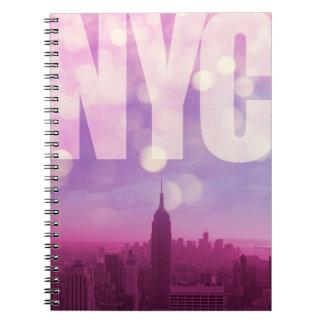 New York City anteckningsboklilor Anteckningsbok