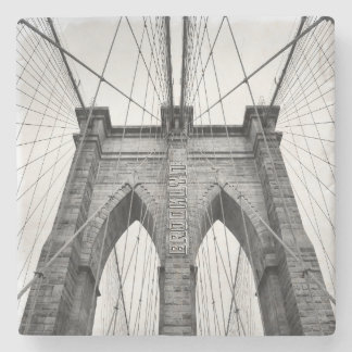 New York City berömda Brooklyn överbryggar Stenunderlägg