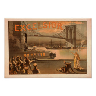 "New York City Brooklyn överbryggar ""Excelsior "", Poster"
