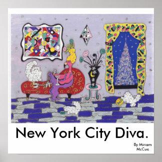 New York City Diva Poster