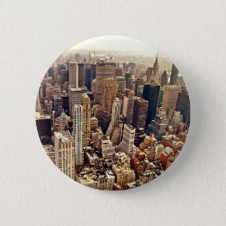 New York City från över Standard Knapp Rund 5.7 Cm