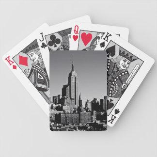 New York City horisont i svartvitt Spelkort