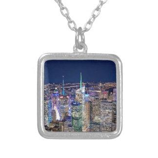 New York City horisont Silverpläterat Halsband