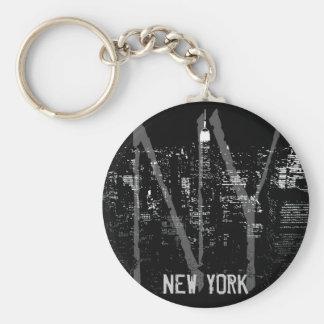 New York City nyckelringNew York souvenir Rund Nyckelring