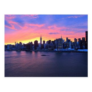 New York City solnedgång Vykort